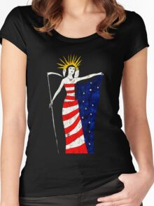 America T-Shirt by Allie Hartley  Women's Fitted Scoop T-Shirt