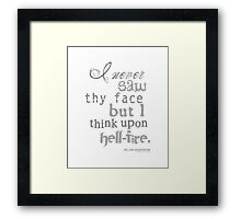 Shakespeare's Henry IV, Part I Hell Fire Quote Framed Print