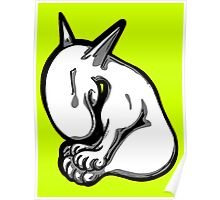 Shy English Bull Terrier  Poster