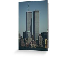 Twin Towers, New York Greeting Card