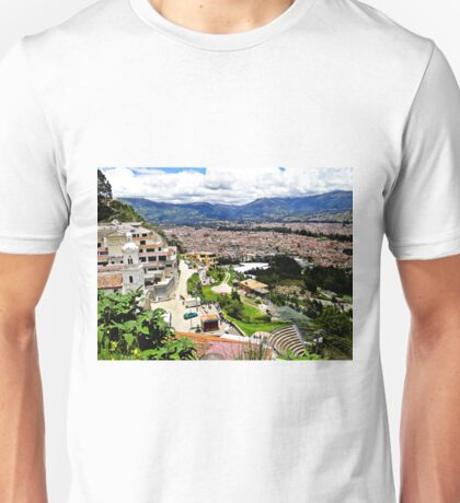 Cuenca Ecuador as seen from Turi Unisex T-Shirt