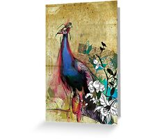 king peacock Greeting Card