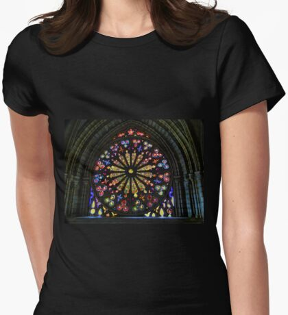 Stained Glass In Old Quito Ecuador Basilica Womens Fitted T-Shirt
