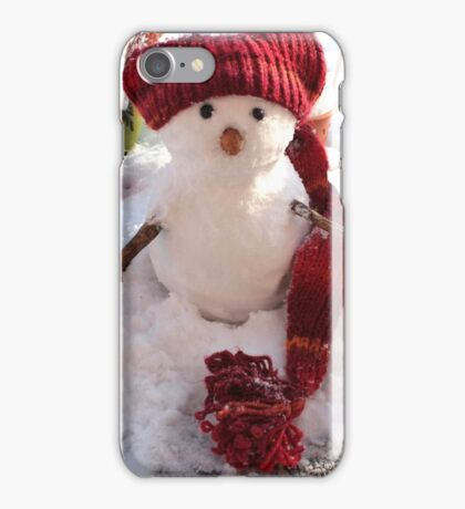 snowman. Christmas iPhone Case/Skin