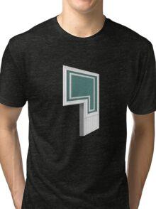 Glitch Homes Wallpaper darktealbaseboard molding left divide Tri-blend T-Shirt