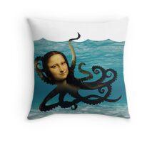 monalisapus Throw Pillow