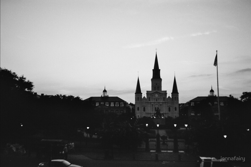 Saint Louis Cathedral, Jackson Sq.  by jennafairy