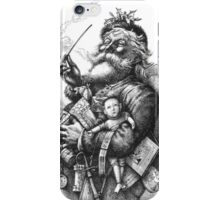 Merry Old Santa Claus Season's Greetings iPhone Case/Skin