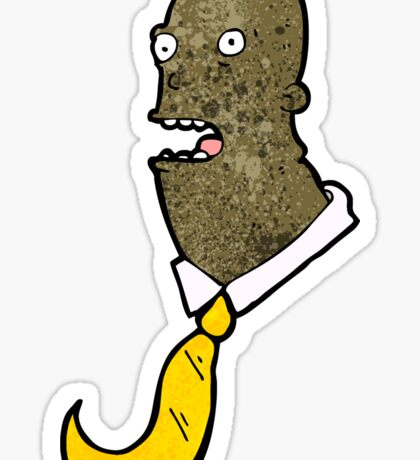 cartoon confused office man Sticker
