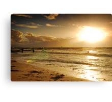 Golden Sunset at Busselton Canvas Print
