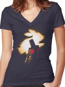 The Black Knight Rises Women's Fitted V-Neck T-Shirt