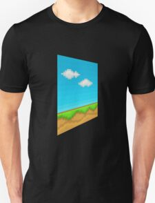 Glitch Homes Wallpaper eightbit left T-Shirt