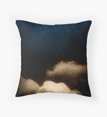 Clouds in a scratched darkness Throw Pillow