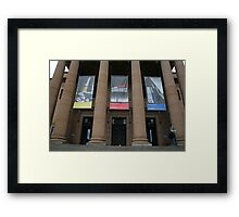 Rubber Ducky visits the State (Mitchell) Library  Framed Print