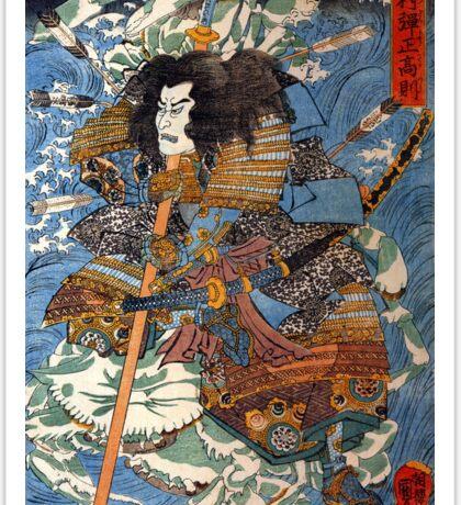 Utagawa Kuniyoshi Samurai Sticker