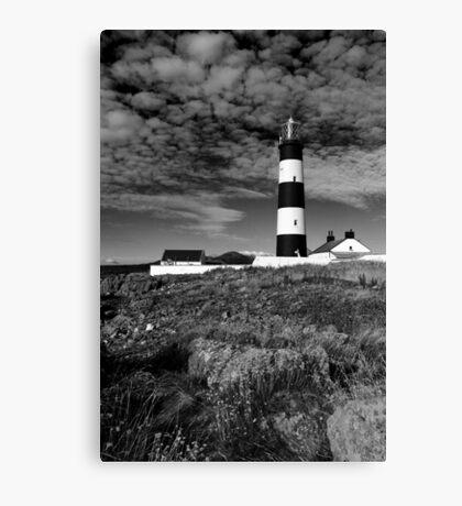 St John's Point, Lighthouse Mono Canvas Print