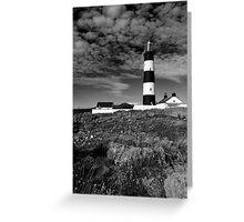 St John's Point, Lighthouse Mono Greeting Card