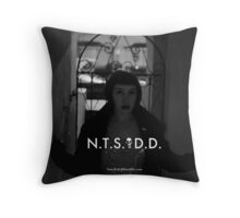N.T.S.D.D. Skull Claire arch 1 Throw Pillow
