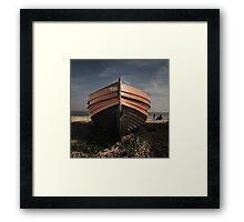 Derelict boat Framed Print