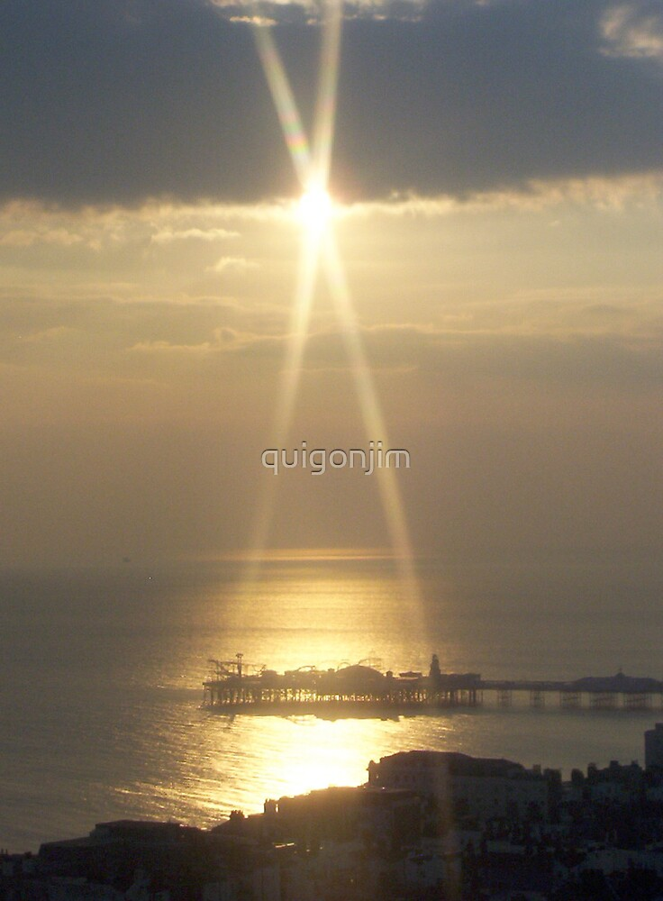 Sunset Over Brighton Pier by quigonjim