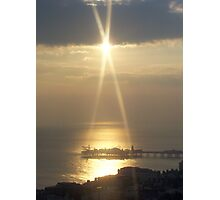 Sunset Over Brighton Pier Photographic Print