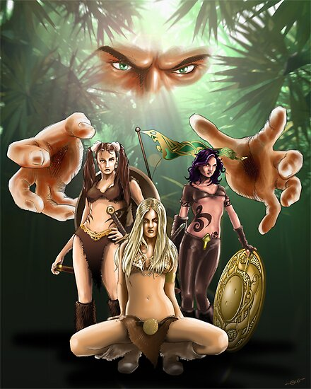 The Three Amazons by quigonjim