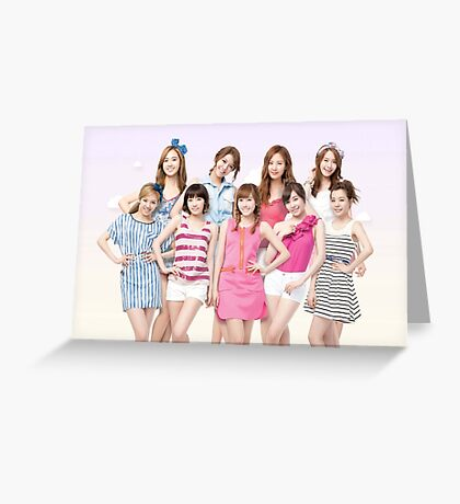 Girls Generation SNSD Greeting Card