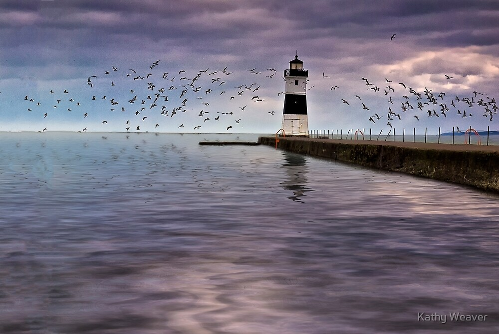 The Light On the Pier by Kathy Weaver
