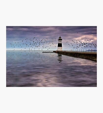The Light On the Pier - Erie, PA Photographic Print