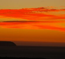 Bushfire Sunset by glendram