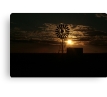 Free State Sunset At The Mill... South Africa Canvas Print