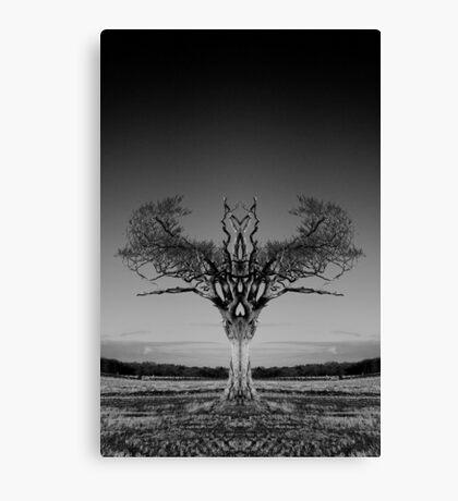 Rihanna Tree Symmetry Canvas Print