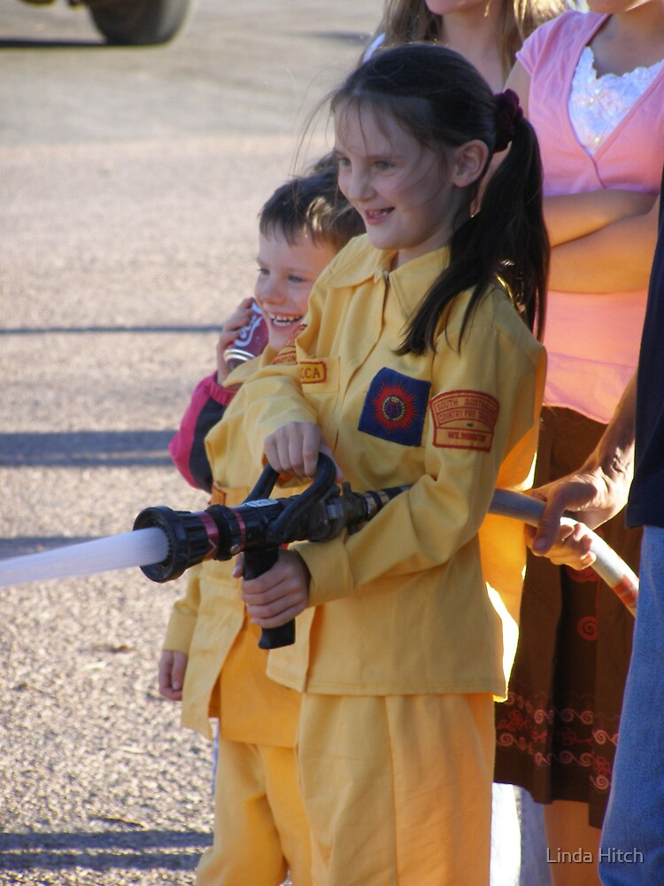 Young fire fighter too ! by Linda Hitch