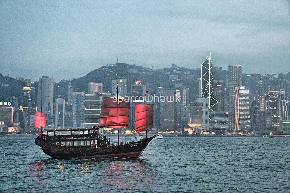 Hong Kong - Junk by sparrowhawk