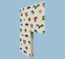 Glitch Homes Wallpaper forest papercut right divide One Piece - Short Sleeve