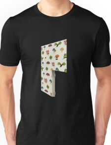Glitch Homes Wallpaper forest papercut right divide Unisex T-Shirt