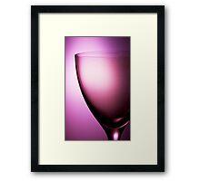 Pink glass still life Framed Print