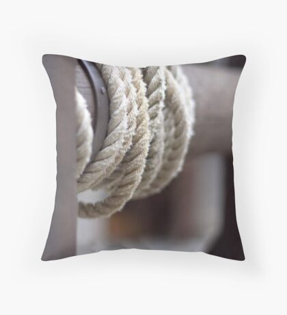rolling up Throw Pillow