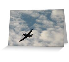spitfire in the air Greeting Card
