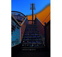 Footbridge Steps Up Photographic Print