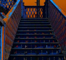 Footbridge Steps Up Sticker
