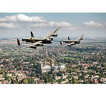 Two Lancasters over Lincoln Photographic Print
