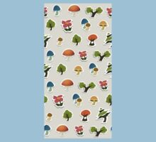 Glitch Homes Wallpaper forest papercut wall One Piece - Short Sleeve