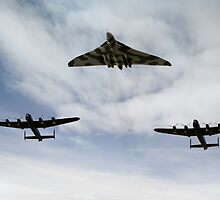 Three Avro bombers by Gary Eason + Flight Artworks