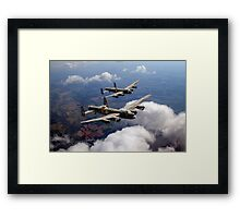 Two Lancasters on tour Framed Print