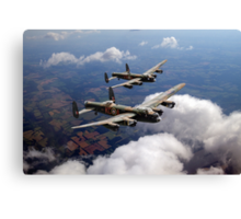 Two Lancasters on tour Canvas Print