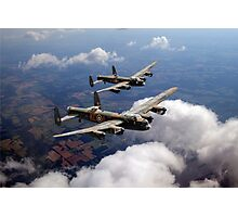 Two Lancasters on tour Photographic Print