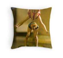Getting abreast of things... Throw Pillow