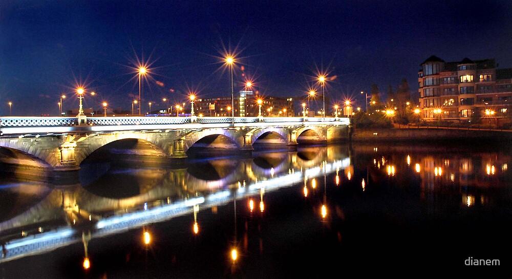 Belfast at night by dianem
