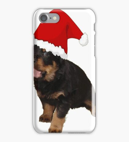 Cute Merry Christmas Puppy In Santa Hat iPhone Case/Skin